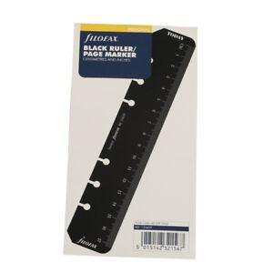 Filofax Personal Size Ruler Page Marker Black Insert Refill Organiser -133609