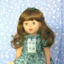 Imsco Clare Lt,. Brown Full Cap Doll Wig Size12-13 Long, Loose Curl, Bangs