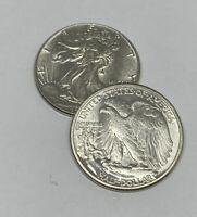 Choice AU - 1945 Walking Liberty Half Dollar - 90% Silver - Almost Uncirculated
