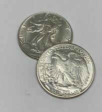 Choice AU - 1943 Walking Liberty Half Dollar - 90% Silver - Almost Uncirculated