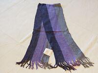 Avon Womens Ladies Ombre Scarf striped purple lavender grey F3777961 NEW;;