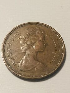 Extremely Rare - 1971 NEW PENCE 2p British Elizabeth II  Coin First Release-1971