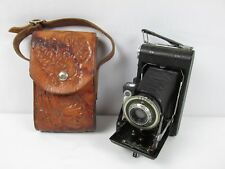 Vintage Kodak Vigilant Six-20 Camera with Awesome Hand Tooled Leather Case