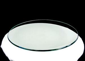 "ELEGANT GLASS CLEAR GREEN TINT CONCAVE HEAVY ROUND 13"" PLATTER"