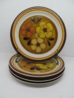"Chadds Ford Aloha Vintage Stoneware 10 1/2"" Dinner Plates Set Of 4 Plates   EUC"