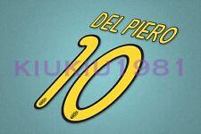 Juventus Del Piero #10 2008-2010 Homekit Nameset Printing