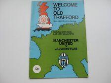 MANCHESTER UNITED V JUVENTUS  20/10/1976    Season 1976-77