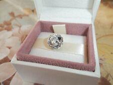 Genuine Authentic Pandora Silver & Pearl Luminous Love Knot Charm 792105WCP
