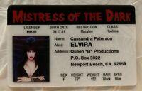 Elvira Mistress Of The Dark ID Horror Movie Drivers License Cassandra Peterson