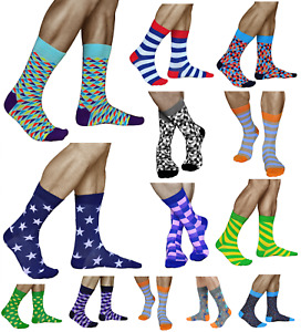 Mens Novelty Funky Crazy Design Dress Socks Thin Cotton Size 6-7-8-9-11 VITSOCKS