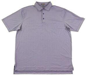 Peter Millar E4 Summer Comfort Golf Polo Shirt Mens XL Purple Striped