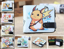 Manga Pokemon Go Pikachu Kurz Geldbörsen Geldbeutel Portemonnaie Blau Kunstleder