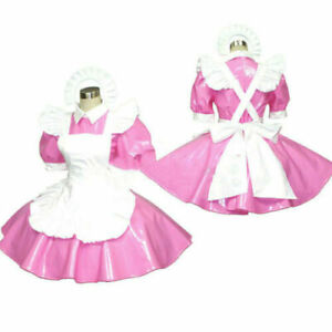 PVC lockable sissy maid dress Tailor-Made