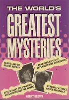 TRIVIA , THE WORLD'S GREATEST MYSTERIES by GERRY BROWN