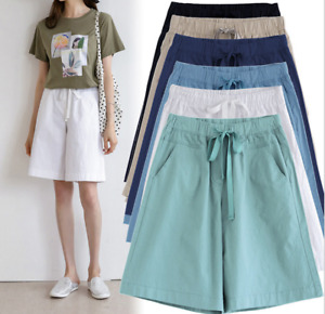 Fashion Women Ladies Loose Shorts Summer Thin Beach Casual Pants Size8-28 E7221