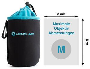 Lens-Aid Neopren Objektivbeutel mit Fleece-Fütterung - Objektivtasche Größe M