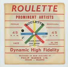 Jimmie Rodgers 1960 NZ Roulette 45rpm Waltzing Matilda b/w Tunes In My Guitar