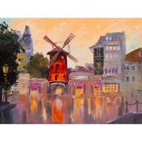 Moulin Rouge Painting Art Print Canvas Premium Wall Decor Poster