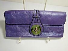 Chloe Purple Leather Turnlock Cluch Purse