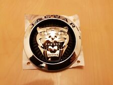 JAGUAR Growler nero anteriore griglia Badge emblema XK XKR & XF XFR 85 mm Originale OE