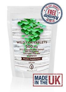 Wild Yam 500mg Vegetarian Tablets Diosgenin Estrogen ✔Made in UK