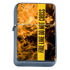 Firefighters D12 Windproof Dual Flame Torch Lighter Refillable Heros