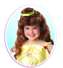 Fancy Dress ~ Childs Disney Beauty & The Beast Belle Wig