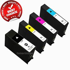 4 Pack 100XL B/C/M/Y Ink Cartidge For Lexmark Pro 205 Prospect, Pro705 Prevail