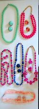 Retro/Vintage Clip On Earrings & Necklaces - 6 sets - Pre owned