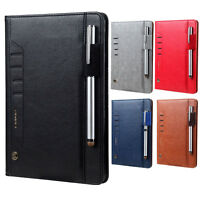 CMAI2 PU Leather Card Slots Stand Case with Stylus Pen Holder for iPad Mini 4