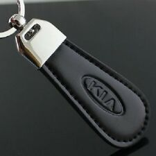 Kia Keyring NEW UK Seller Silver Black Car Key Ring KeyChain Leather