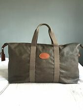 Mulberry Large Clipper Mole Cognac Scotchgrain Trim Leather Travel Bag Holdall