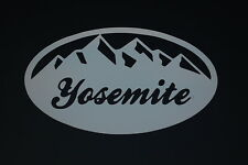 YOSEMITE Oval Sticker Vinyl Decal CHOOSE COLOR & SIZE!! Camping Hiking (V506)