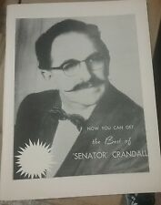 NOW YOU CAN GET THE BEST OF SENATOR CRANDALL BY  CLARKE CRANDALL