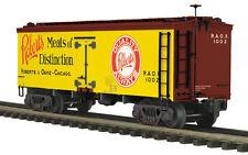 20-94376 MTH/Premier 36' Woodsided Reefer Car - Robert & Oake Meats , 3 Rail 0