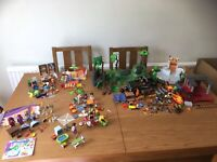 LARGE JOB LOT/BUNDLE OF PLAYMOBIL SETS - ANIMALS, FIGURES AND SO MUCH MORE!