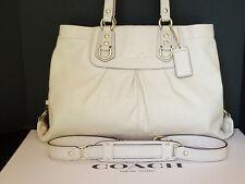 Coach EUC Ashley Leather Ivory Cream Satchel Shoulder Hand Bag Crossbody F15513