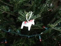 Scandinavian Swedish Wooden Dala Horse Ornament  #46162