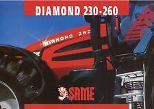 Prospekt Same Diamond 230 260 10 99 1999 Trecker Schlepper Traktor tractor Italy