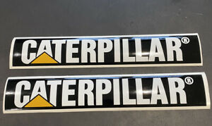 2 x CATERPILLAR  DECAL EXCAVATOR, DIGGER, TRACTOR, LOADER GENNY 240mm x 40mm