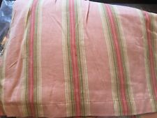 Taylor Linens Pink Green stripe  dust riffle for twin bed