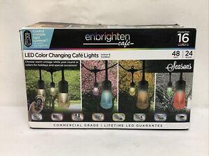 Enbrighten 37790 Durable Acrylic Color-Changing LED Cafe String Lights 48 ft.