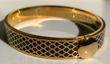 HALCYON DAYS SALAMANDER DEEP COBALT AND GOLD BANGLE. WITH VELVET POUCH. NEW