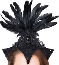 Burlesque Headpiece Black Fancy Dress Show Girl Costume Accessory