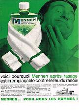 PUBLICITE  1966   MENNEN  aprés rasage cosmétiques homme