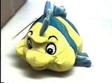 New Disney Store The Little Mermaid Flounder Fish Plush bean bag Ariel friend