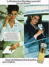 PUBLICITE  1978   MOLYNEUX  parfum QUARTZ