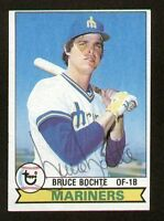 Bruce Bochte #443 signed autograph auto 1979 Topps Baseball Trading Card