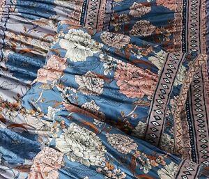 NEW Anthropologie Majorelle Standard Pillow Sham Blue Floral