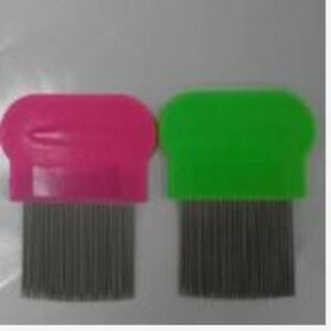 Removes Lice Dandruff Hair Comb Magic Suyod Set of 2 - PINK/GREEN